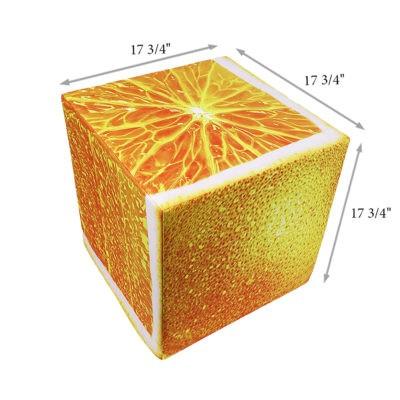 Orange cube seat