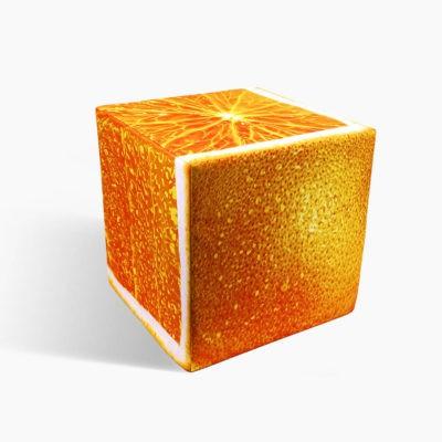 Orange cube 1