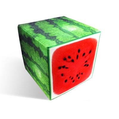 Watermelon cube seat