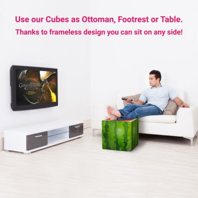 watermelon cube ottoman footrest interior man buy
