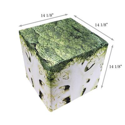 Small Broccoli cube seat