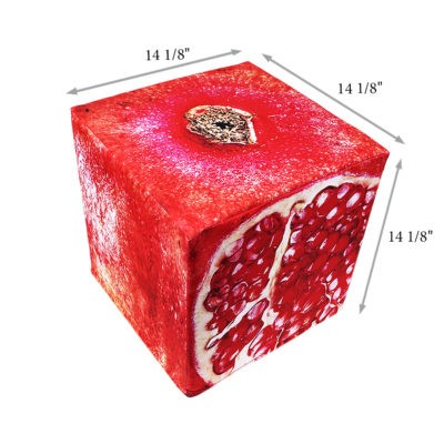 Pomegranate cube seat