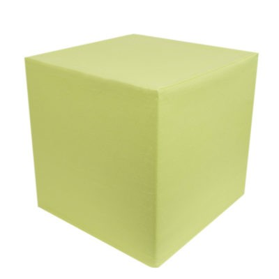 Bright lime linen cube
