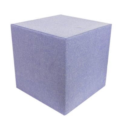 Linen blue cube-1