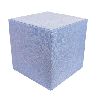 Blue Linen Cube
