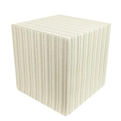 Linen striped cube-1