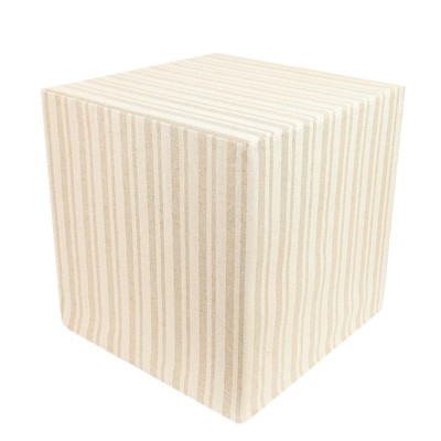Striped Linen Cube
